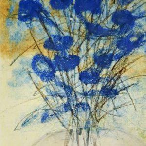 Blume blauweiss