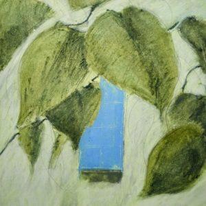 Gewächshaus - Blaues Fenster