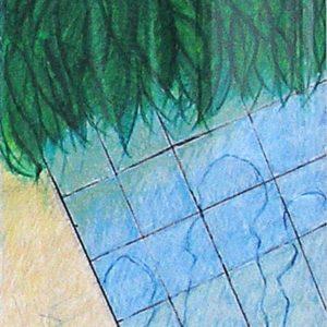 Gewächshaus - Fenster in Blau,