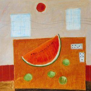 Melonenspiel, 2016, oil pastel