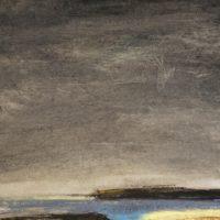 Düsterhimmel, 2018, Oilpastel 30 x 60 cm